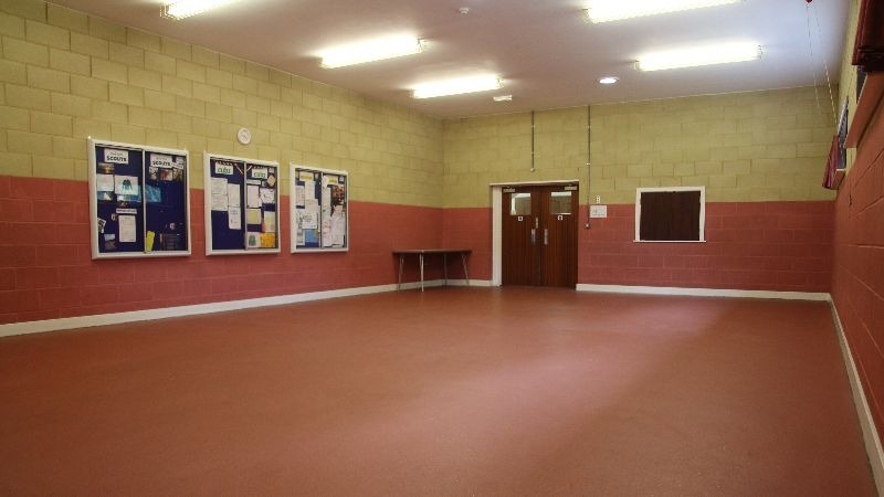 Our Brian Spray hall featuring the section notice boards
