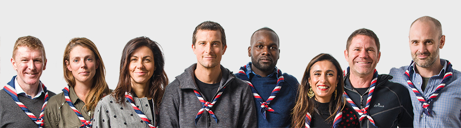 Photograph of all the Scout ambassadors together